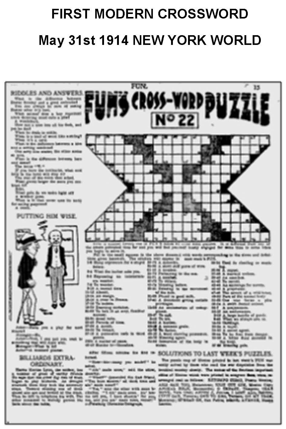 first modern crossword